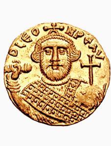 Монета византийского императора Леонтия
