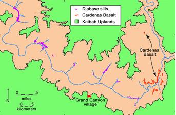 Карта Большого Каньона