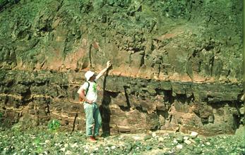 лавовые потоки слоя Карденас Базальт