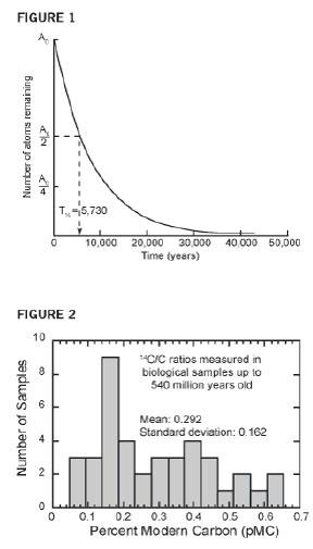 Углерод С-14 в окаменелостях и алмазах